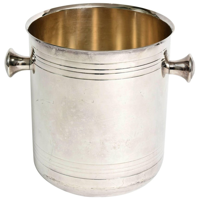 Christofle Silver-Plate Champagne Cooler Ice Bucket  Barware For Sale