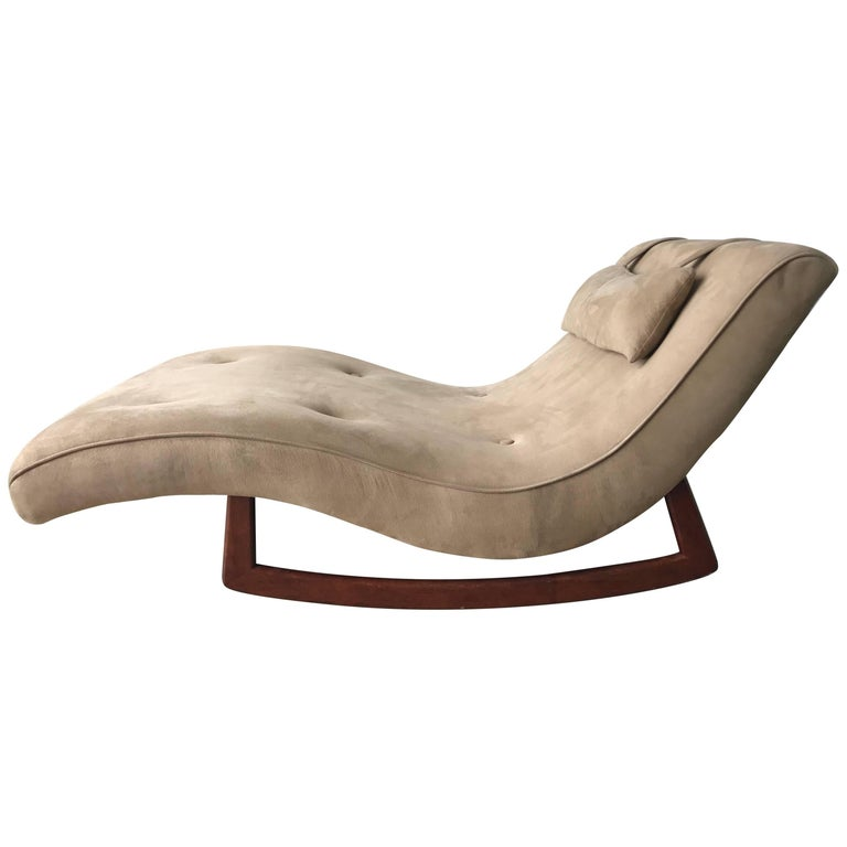 Adrian pearsall rocking wave chaise lounge at 1stdibs for Adrian pearsall rocking chaise