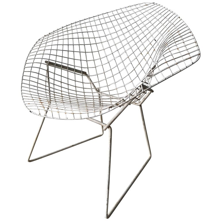 "Original Harry Bertoia ""Diamond"" Chair"