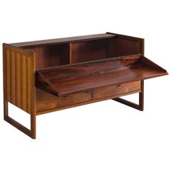 Danish Cabinet Maker Rosewood Cabinet and Dry Bar