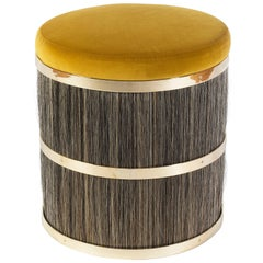 Thing 2 Stool with Brass, Horse Hair and Velvet or COM