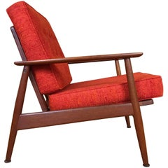 Danish Modern Teak Lounge Chair, circa 1950s by Moreddi