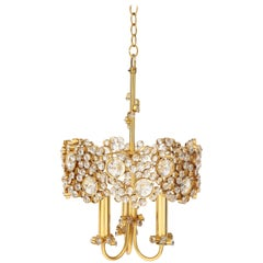 Gold-Plated and Crystal Chandelier by Palwa