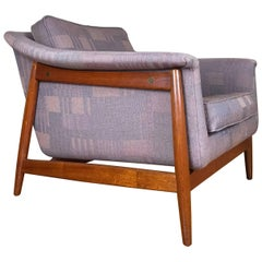 Swedish Modern Lounge Chair by Folke Ohlsson for DUX in Teak and Rosewood