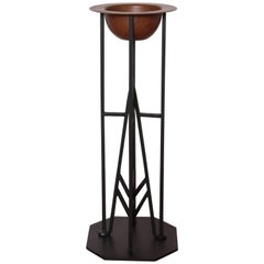 Art Deco McArthur / Wright Arizona Biltmore Wrought Iron Plant or Smoking Stand