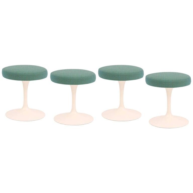Four Saarinen Knoll Swivel Stools