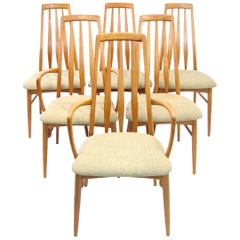 "Six Mid-Century Danish Teak ""Eva"" Dining Chairs by Neils Koefoed"