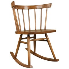 Mid-Century Modern Petite Windsor Rocking Chair by Ercol Furniture, circa 1950s