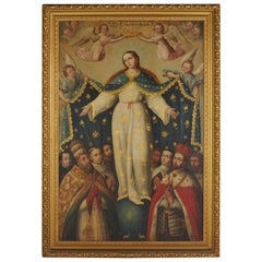 "18th Century Painting, Our Lady of the ""Goodhelp"" with Saints"
