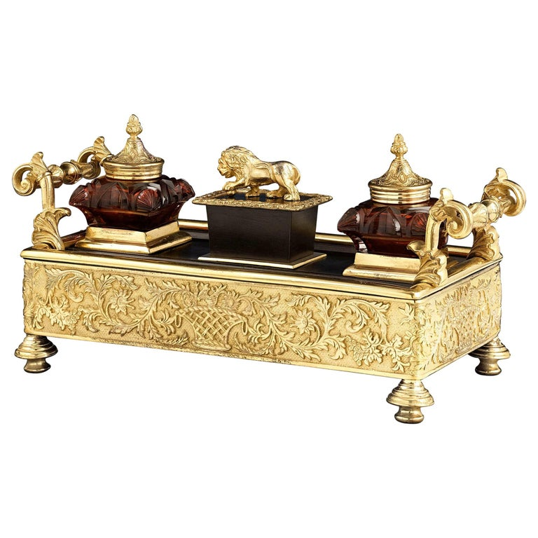 Gothic-Style Regency Inkwell For Sale