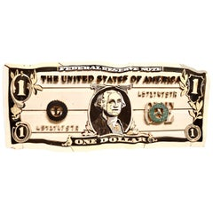 Original Diederick Kraaijeveld Pop Art One Dollar Bill