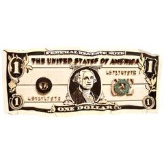Original Diederick Kraaijeveld Pop Art One Dollar Bill