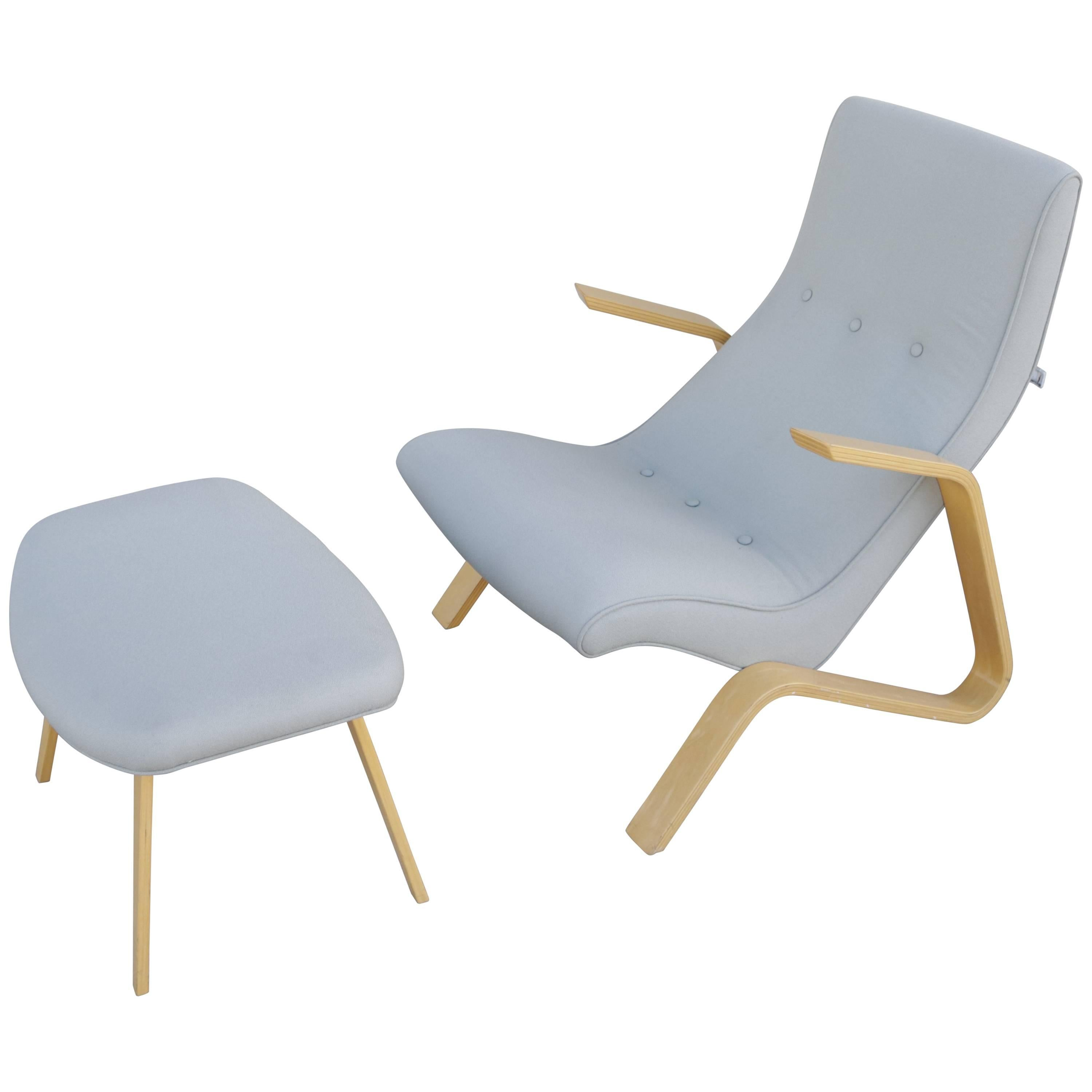 Modernica Grasshopper Chair And Ottoman By Eero Saarinen For Sale