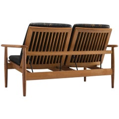 Johan Hagen Oak Settee in Original Leather