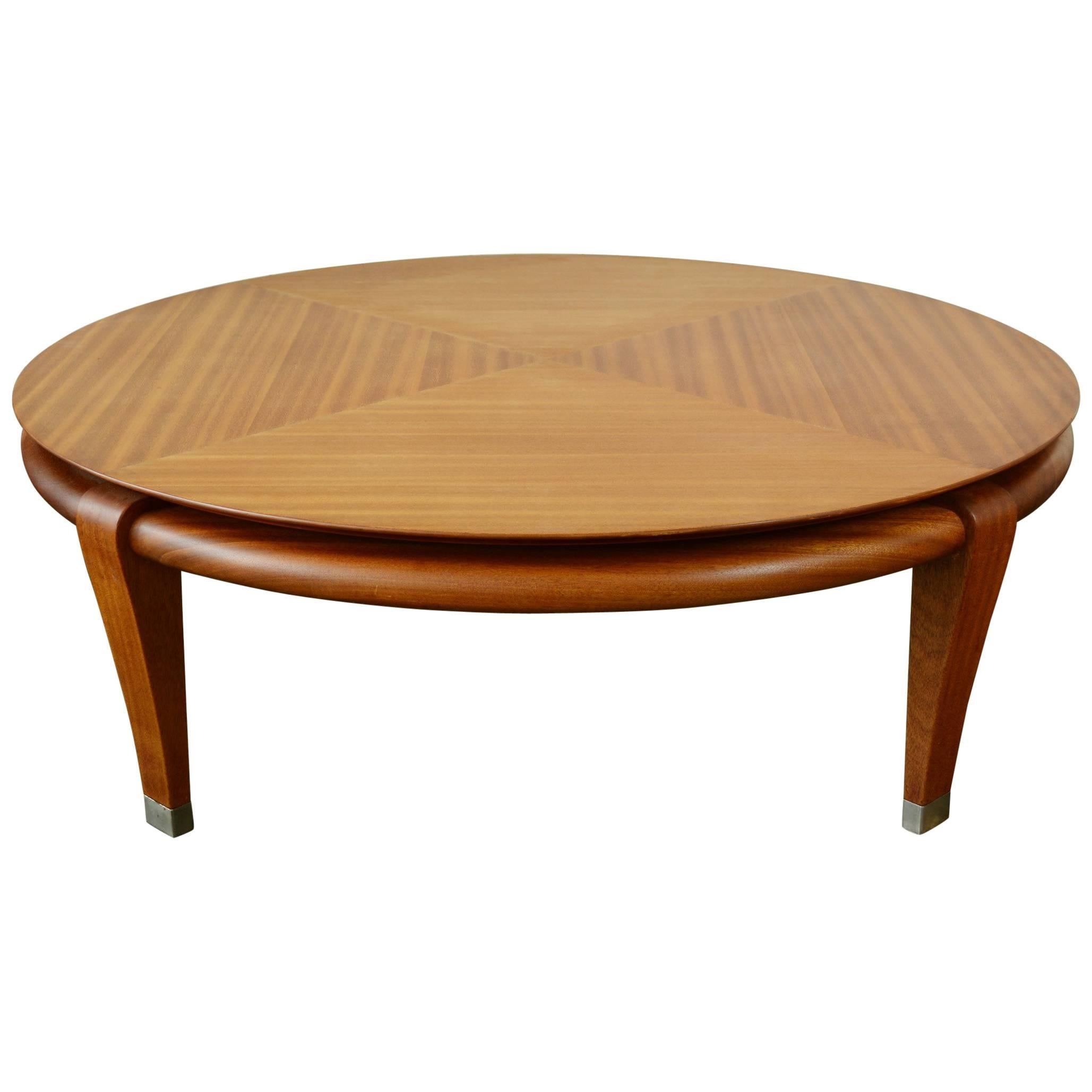 Brown Saltman Mahogany Coffee Table by Paul Laszlo