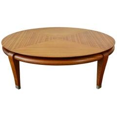 Brown Saltman Mahogany Coffee Table by Paul Laszlo