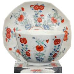Tea Bowl and Saucer, Kakiemon Decoration Chelsea, circa 1752