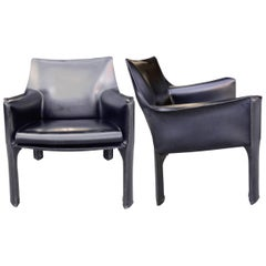 Cassina Cab Lounge Chairs by Mario Bellini