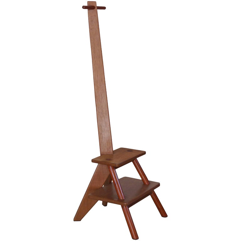 Brazilian Contemporary Design, Girafa Ladder and Hanger, Two Natural Solid Wood