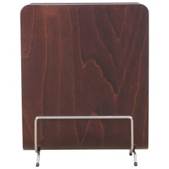 Mid-Century Modern Scandinavian Magazine Rack in Plywood, Rosewood Stained