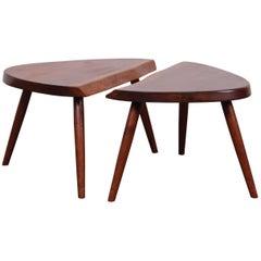 Pair of George Nakashima Wepman Tables, 1961