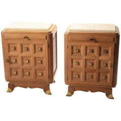 Midcentury Nightstands with Drawers from 1940s