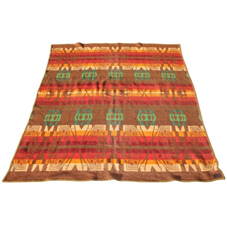 Pendleton Indian Design Trade Blanket / Cayuse