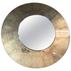 Italian Round Mirror with Gold Leaf