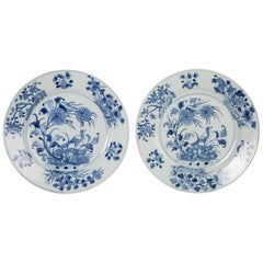 Pair of Blue & White Plates
