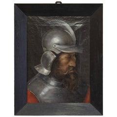 Man in Steel Helmet Painting
