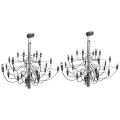 Model 2097/30 Chandelier by Gino Sarfatti for Flos, Pair