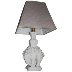 Italian Ceramic Elephant Table Lamp, 1970s