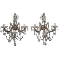 Maria Theresa Big Pair Sconces 1940s Very Elegant and Chic Design