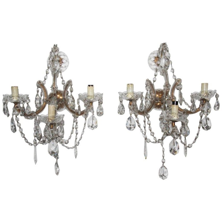 Maria Theresa Big Pair of Sconces 1940s Very Elegant and Chic Design