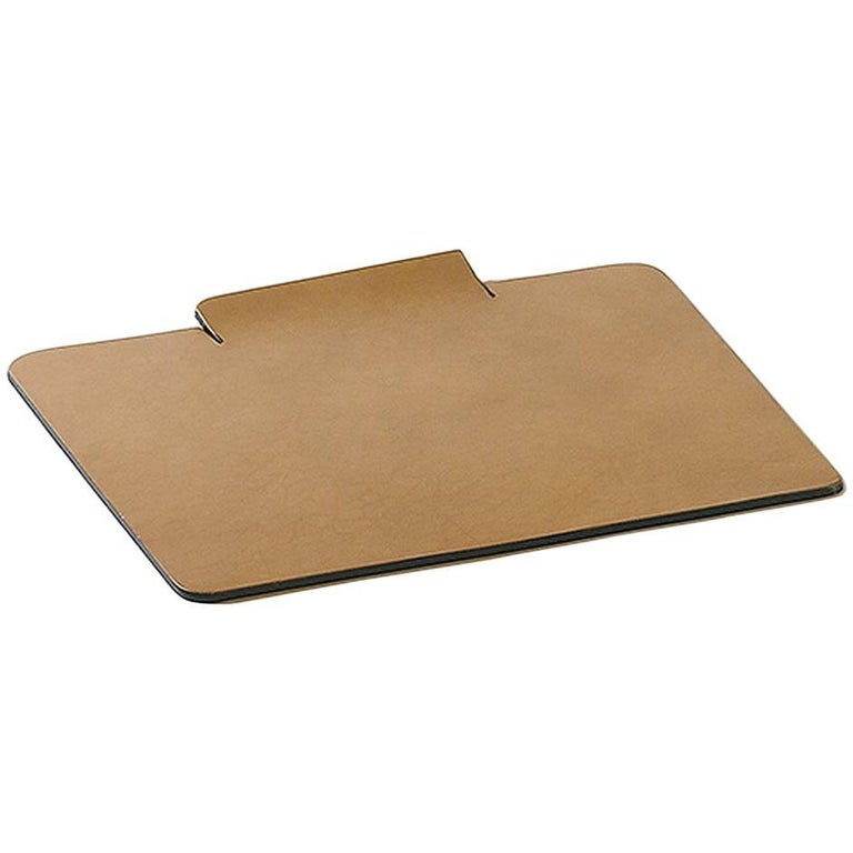 """""""Proust"""" Leather Mouse Pad Designed by Claude Bouchard for Oscar Maschera For Sale"""