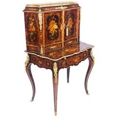 19th Century Louis Revival Marquetry Bonheur Du Jour