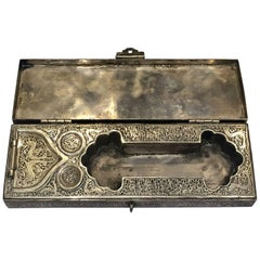 Beautiful Late 19th Century Solid Silver Pen Box