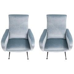 Pair of Mid-Century Modern Italian Armchairs, circa 1960s