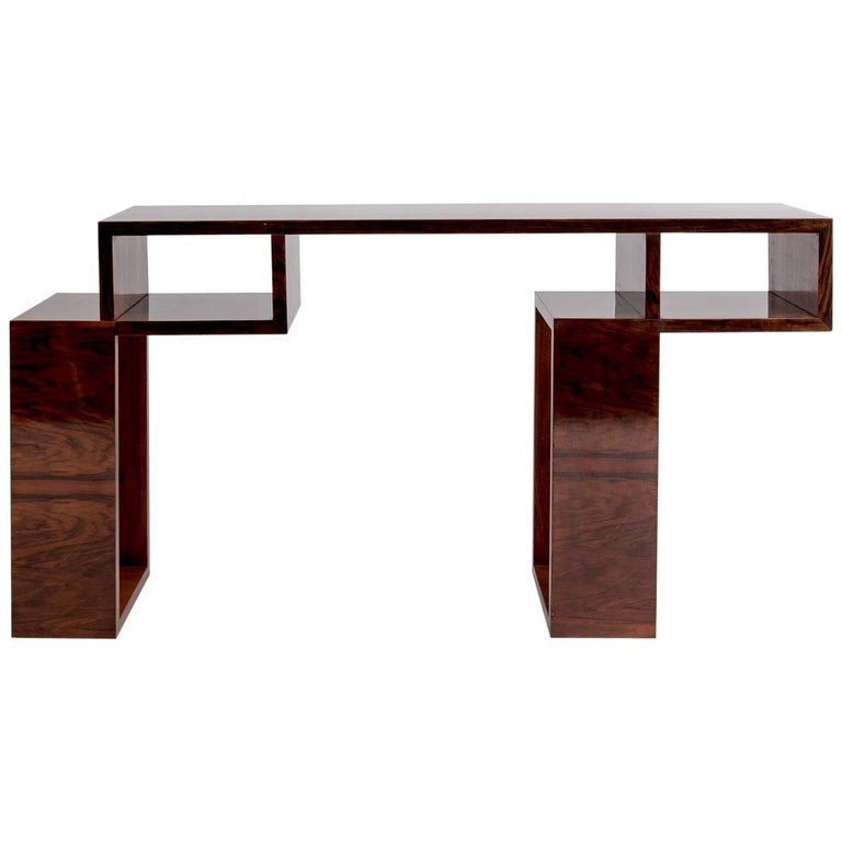 "French Art Deco ""Cubist"" Console Table, circa 1930s"