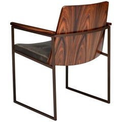 "Vermeil ""CAD"" Chair by Fabio Stal Stainless Steel/Pau Ferro Wood"