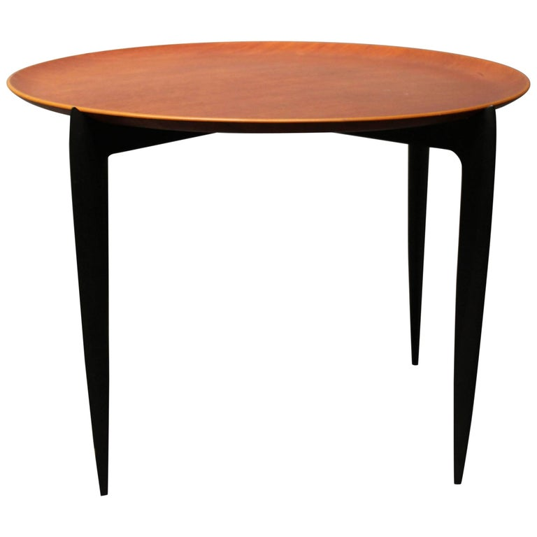 Low Tray Table with Plate of Teak and of Danish Design by Fritz Hansen, 1970s