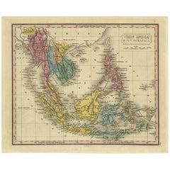 Antique Map of South East Asia by J.H. Young, 1832