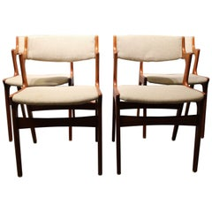 Set of Four Dining Chairs in Teak from Nova Furniture Factory, 1960s
