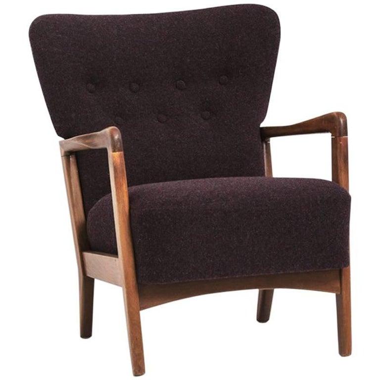Lounge Chair Designed by Søren Hansen, Produced by Fritz Hansen, 1940s
