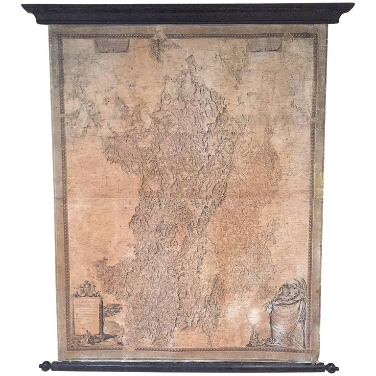 18th Century Map of the Bourgogne Region For Sale