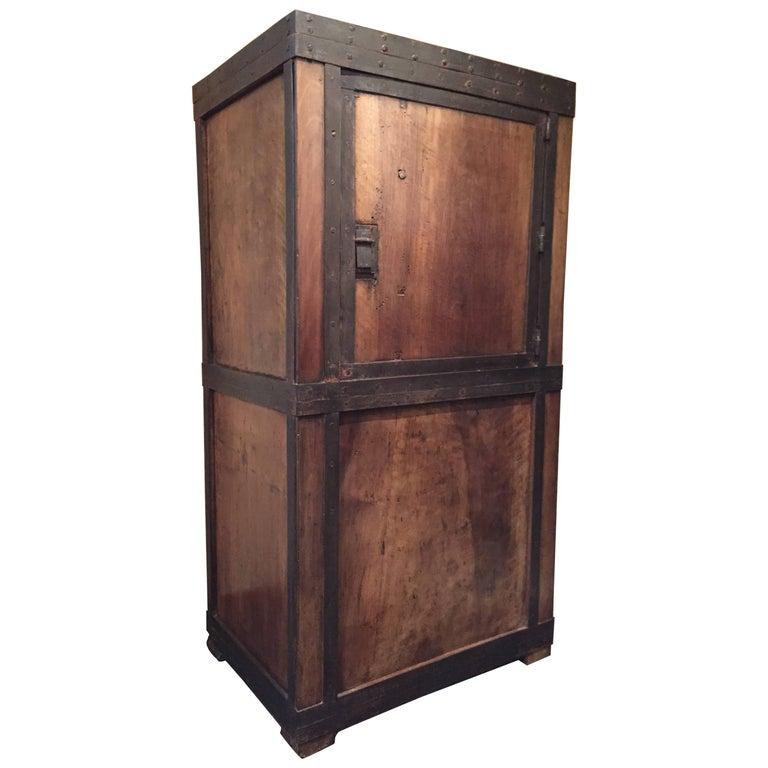 Strongbox Safe Walnut Armoire Cupboard