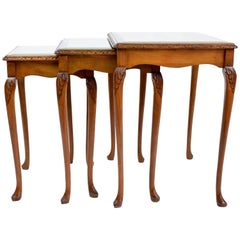 French Vintage Bookmatched Nesting Tables