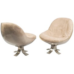 Pair of Chairs Attributed to Michel Pigneres, France, 1970s