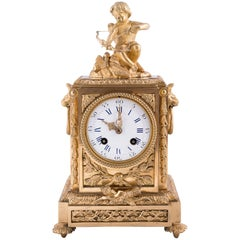 Fine Napoleon III Bronze Dore Clock