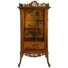 """Emile Gallé """"Aux Ombelles"""" French Art Nouveau Cabinet"""